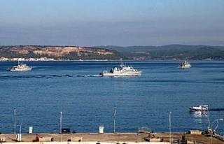 Tatbikat için gelen NATO gemileri, Çanakkale Boğazı'nı...