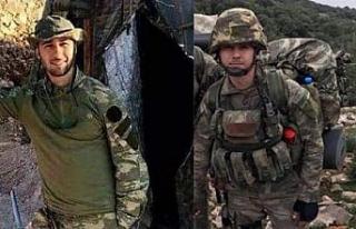 Afrin'de şehitlerin cenazesini kaçıran terörist...