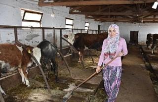 Bursa'da genç kız, devletten aldığı destekle...