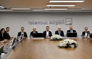 Ekrem İmamoğlu, İstanbul Havalimanı yöneticileriyle...