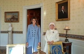 Emine Erdoğan, Melania Trump'a teşekkür etti
