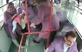 Erzincan'da halk otobüsünde panik