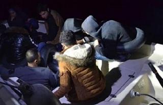 Fiber teknede kaçak 9 göçmen