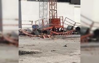 İnşaatta yük asansörü 11'inci kattan düştü:...