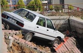Samsun'da istinat duvarı çöktü, 6 katlı bina...