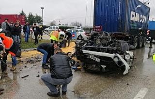 Bursa'da tırlar kaza yaptı!