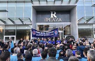 Bursa'da o üyelerinden eylem