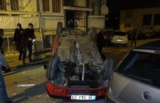 Otomobil takla attı, sürücü alkollü çıktı