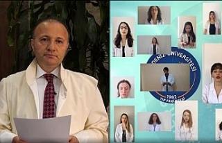 Tıp Fakültesi öğrencileri video konferansla Hipokrat...