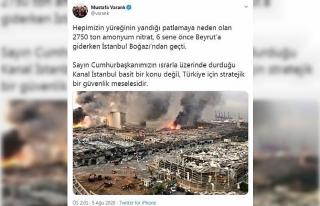 Bakan Varank: Kanal İstanbul, Türkiye için stratejik...