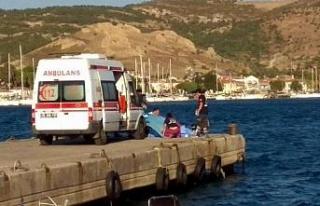 Foça'da 10 kişinin bulunduğu tekne battı:...
