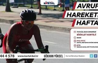 Avrupa Hareketlilik Haftası Kartal'da bisiklet...