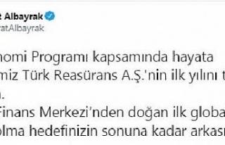 Bakan Albayrak: Türk Reasürans A.Ş.'nin ilk...