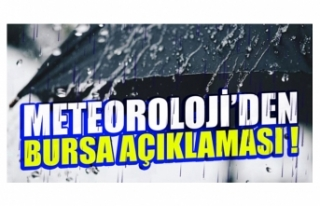 Bursa'da bugün ve yarın hava durumu nasıl...