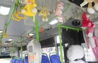 Abart egzozlu süslü halk otobüsü trafikten men...