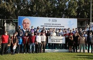 Akdeniz Belediyesinden 34 amatör spor kulübüne...