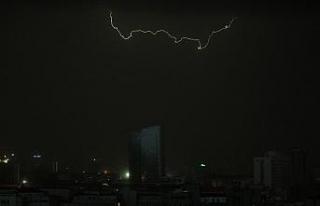 Ankara'da sağanak yağış başladı