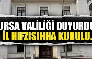 Bursa Valiliği'nden İl Hıfzıssıhha Kurul...