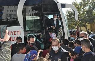 Cumhurbaşkanı Erdoğan Şırnak'ta çocuklara...