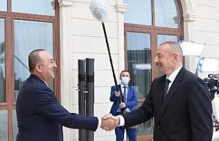 Dışişleri Bakanı Çavuoğlu Azerbaycan Cumhurbaşkanı...