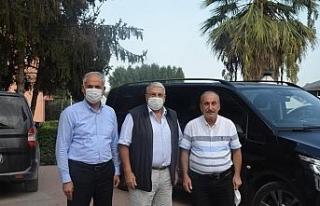 Eski Bakan Şeker'den Başkan Yaman'a ziyaret