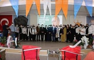 Gördes AK Parti Kadın Kolları Başkanı Seher Eren...