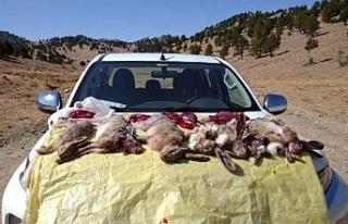 Görevlilere ateş edip kaçan kaçak avcılara 23...