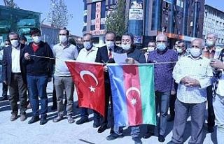 Kırşehir'de STK'lar Azerbaycan'a destek için...