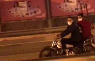 (Özel) Motosiklete binerken maske taktılar, ama...