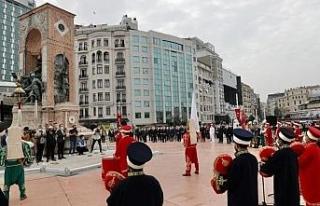 Taksim'de İstanbul'un Kurtuluşu'nun 96. yıl...