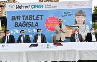 Yeşilyurt Belediyesinden tablet bağış kampanyasına...
