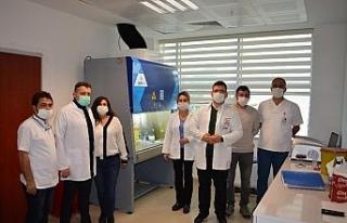 5. PCR laboratuvarı, Finike Devlet Hastanesinde hizmete...