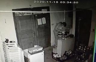 Aynı işyerine ikinci kez giren hırsızlar kameralara...