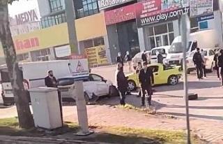 Bursa'da kontrolden çıkan otomobil park halindeki...