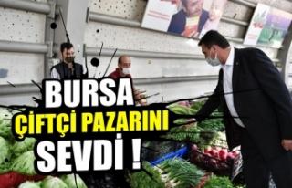 Bursalılardan Çiftçi Pazarına yoğun ilgi