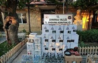 Çanakkale'de sahte ve kaçak içki operasyonu:...