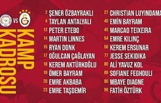Galatasaray'ın Rizespor maçı kamp kadrosu belli...