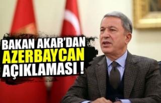 Hulusi Akar'dan Azerbaycan açıklaması!