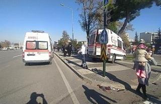 İçinde 3 yaşındaki çocuğun bulunduğu ambulansla...