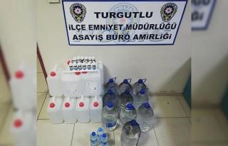 Turgutlu emniyetinden kaçak içki operasyonu