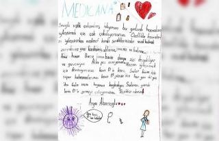 7 yaşındaki çocuktan sağlık çalışanlarına...