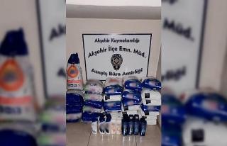 Akşehir'de sahte deterjan ve şampuan operasyonu