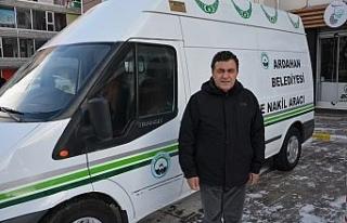 Ardahan Belediyesi araç parkına cenaze nakil aracı...