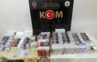 Emniyet kaçak tütün ürünlerine savaş açtı