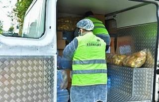 Esenyurt'ta Covid tedavisi görenlere gıda yardımı...
