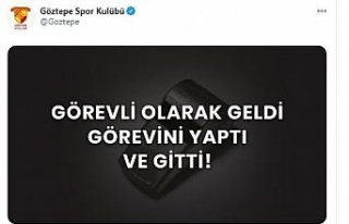 Göztepe'den imalı paylaşım