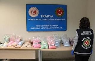 Gümrük Muhafaza ekipleri Kapıkule'de zehir yüklü...