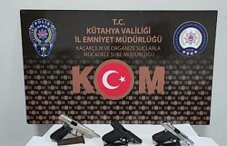 Kütahya'da silah kaçaklığı operasyonu: 2 gözaltı