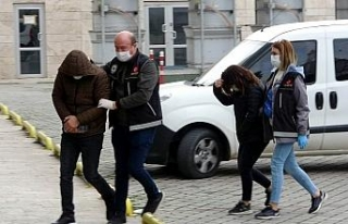 Samsun'da karı-koca uyuşturucu ticaretinden gözaltına...