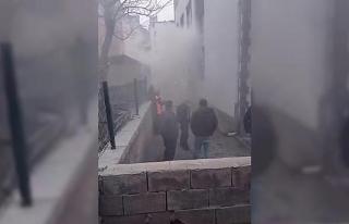 Vakıf binasında korkutan yangın